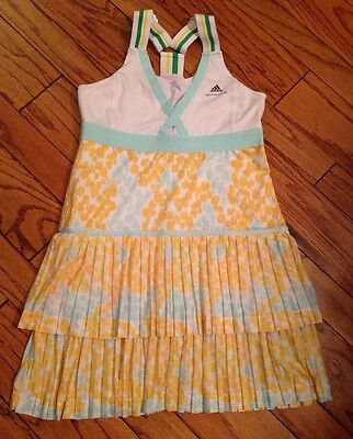 NWD 44 L XL Adidas Stella McCartney Barricade Tennis Dress White Yellow