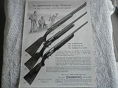 1960 Browning Rifle Advertisement Superposed, Automatic-5 & Double Action