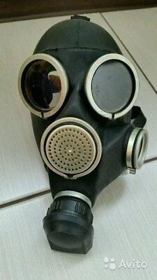 Soviet Russian Military Gas mask GP-7 New FULL SET Grey rubber tactical filter
