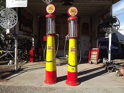 Vintage SUPER SHELL  Visible Gravity Flow 10 Gal. GB Gas Pump PRICE REDUCED!