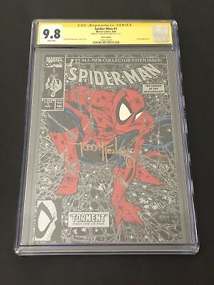 Spider-Man #1 Silver CGC 9.8 Signed by Todd McFarlane! 1990 Torment