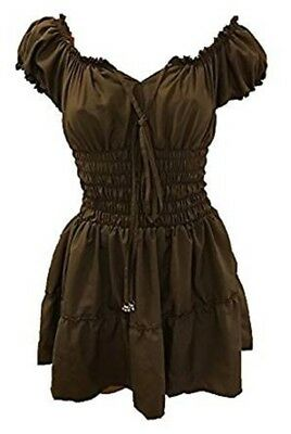 Gypsy Boho Smocked Blouse (L/XL, Taupe)  CHECK OUT OUR 3 DAY SALE!!