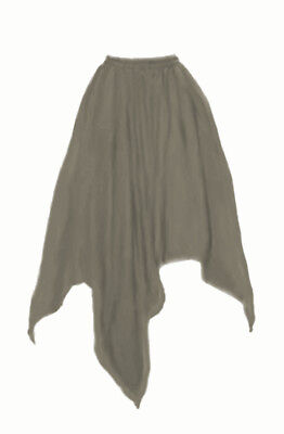 I-D-D Renaissance Peasant Wench Pirate Faire Women 4 Point Over Skirt Pewter