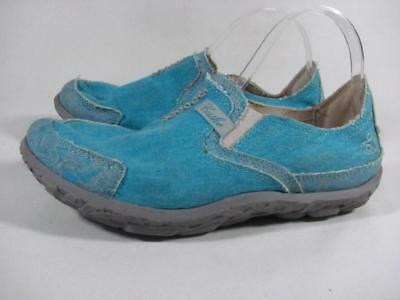 Cushe Loafer Women size 9 Turquoise Canvas