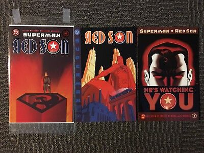 SUPERMAN RED SON #1 #2 #3 First Printings Complete Set NM TPB