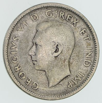 SILVER - 1942 Canada 25 Cents - World Silver Coin 5.7 Grams *481