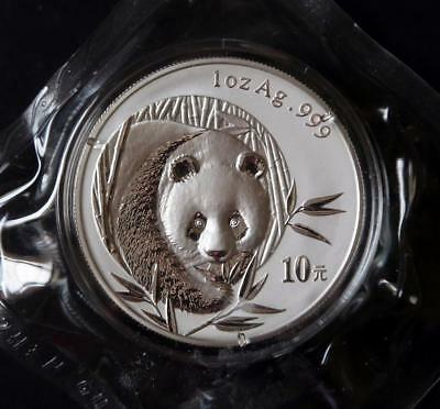 2003 China 10 Yuan 1 Oz Silver Panda-Very Nice!