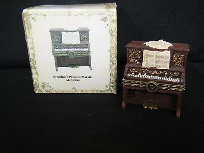 "Boyds Bears Treasure Box ""grandma's Piano 1E #392143"