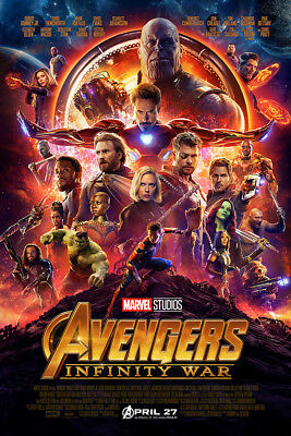 "Avengers Infinity War Art Poster 48x32"" 36x24"" 2018 Movie Film Decor Print Silk"