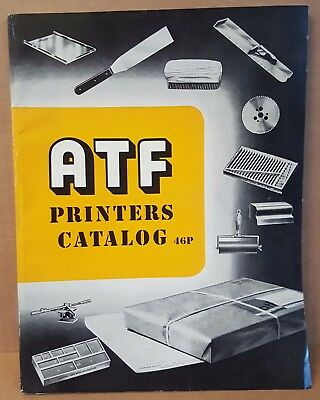ATF American Type Founders Catalog 46P Linotype