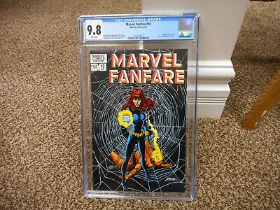 Marvel Fanfare 10 cgc 9.8 Black Widow 1983 George Perez cover MINT WHITE BLACK c