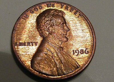 Uncirculated 1986 Extreme Polished Die Mint Error Memorial Cent Collectable Lots