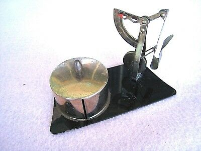 Postal Scale.....Antique.....Pendulum up to 1 oz. and Roll Stamp Holder....Brass