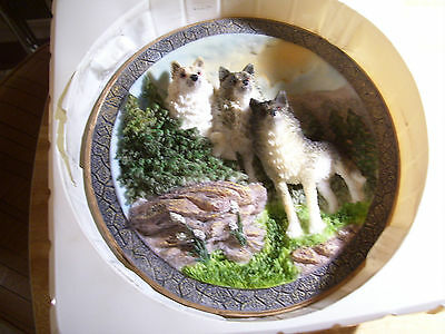 Suanti Galleries Wolfland Collection 3D Plate