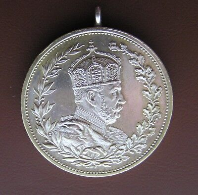 Germany Silver Medal 1897 100 Anniversary Kaiser Wilhelm Birth. By Lauer.