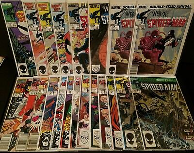 Web Of SPIDER-MAN Lot of 21 Comics - #31 #32 Annual #1 2 3 + More VF/NM