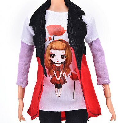 Beautiful Handmade Party Clothes Fashion Dress For Barbie Doll Gift Toys AU.