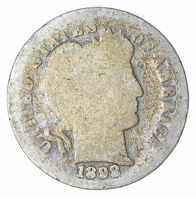 BETTER Date - 1898-O Barber Dime - Look it up! *422