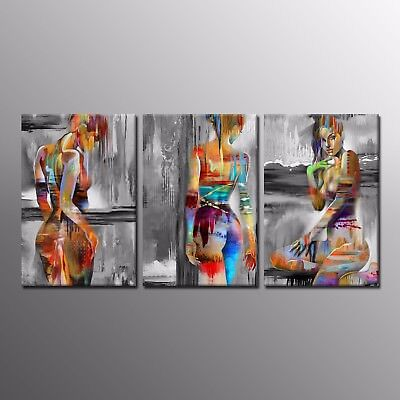 Abstract Painting Picture Canvas Prints Human Body Art Wall Art Home Decor 3pcs
