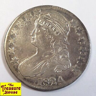 1824 Capped Bust Liberty Head 50 C.Type 1 50c Half Dollar 89.2% Silver Coin NR!