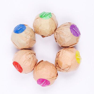 6PCS Aromatherapy Bubble Bath Bombs with Coconut Oil GIFT Bath Fizzies