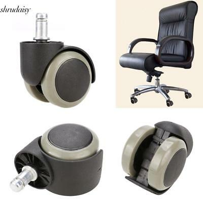 New 5PCS Office Chair Soft Rubber Caster Wheel Swivel Wood Floor S5DY