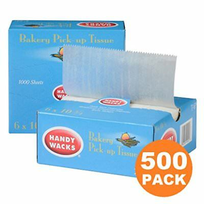 500 Interfolded Food and Deli Dry Wrap Wax Paper Sheets with Dispenser Box Ba...