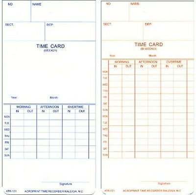 Acroprint 09-9110-000 Payroll Recorder Time Cards ATR121, For the ATR120 Time...
