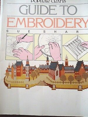 Guide To Embroidery..many Stitches And Methods Included..fully Illustrated.1988