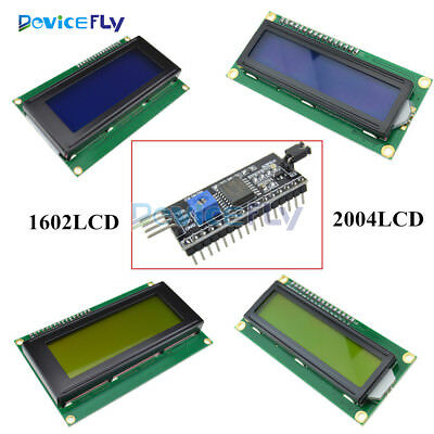 IIC/I2C/TWI/SP​​I Interface Blue/Yellow1602 2004 Character LCD Module Display