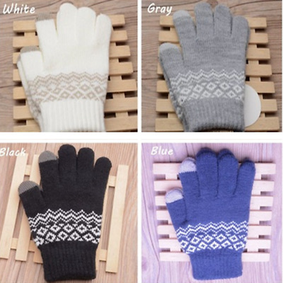 Touch Screen Gloves Lady Stretch Wool Knit Mittens Winter Warmer GLOVE Fashion