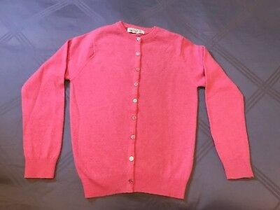 Scotland 100% Cashmere Vintage Pink Cardigan Sweater 50s 60s