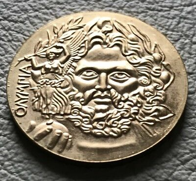 Medaille Olympiade Athen 1896 * Griechenland Zeus Nike Akropolis