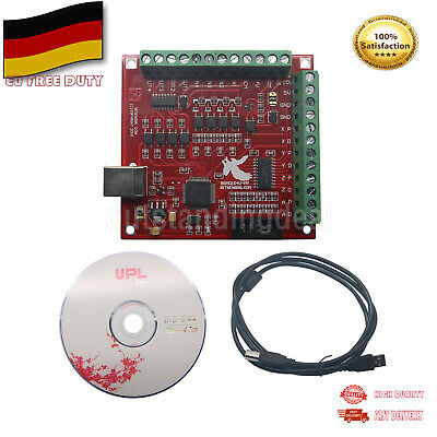 MACH3 4 Axis 100Khz CNC USB Breakout Board Interface Driver Motion Controller DE
