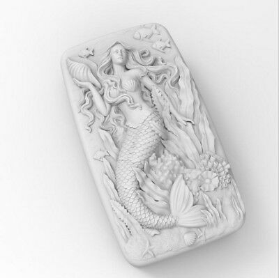 Mermaid Mold Flexible Silicone Soap Making Mould Soap Mold DIY Candle Mold