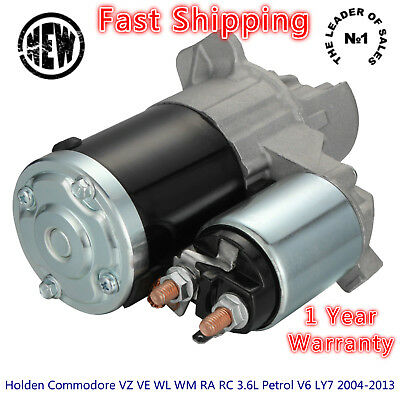 Starter Motor Holden Commodore  VZ VE WL WM RA RC 3.6L Petrol V6 LY7 2004-2013
