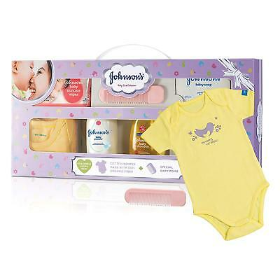 Johnson's Baby Care Collection with Organic Cotton Baby Dress Gift Set (8 Pcs)