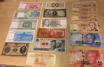 World Foreign Currency Banknotes Paper Money Lot