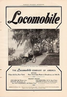1902 Locomobile Steam Car Ad-River Road-Ormond,florida