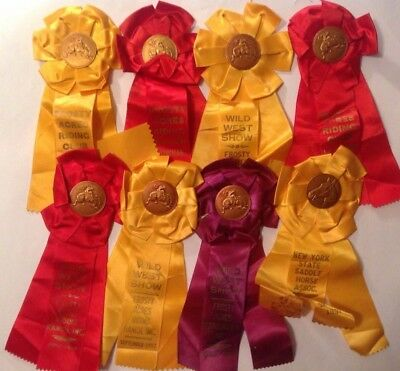 lot of 8 1957 & 1958 Horse Show Ribbons