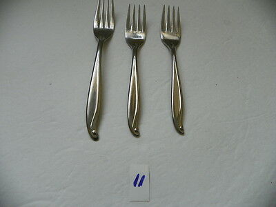 Set Of 3    International  Tradewinds- Jamaica Forks 2 Salad 1 Dinner Stainless