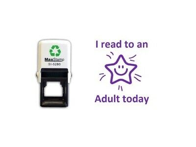 I read to an Adult Today - 28mm x 28mm Self-Inking Teacher Stamp