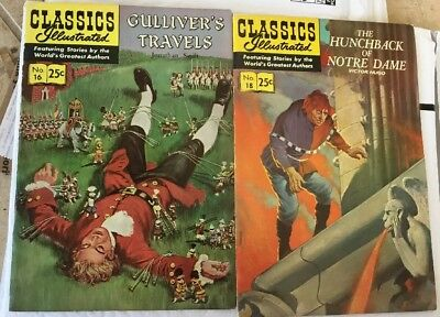 Classics Illustrated Comics Gulliver's Travels And The Hunchback Of Notre Dame