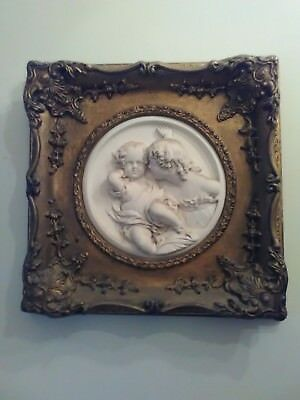 pair of vintage / antique Italian / French marble plaques