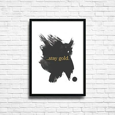 STAY GOLD WALL Art Print Poster Inspirational Quote Home Decor Gift ...
