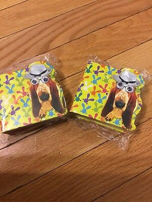 Cute Basset Hound  2 Sets Of Mini Note Pads New