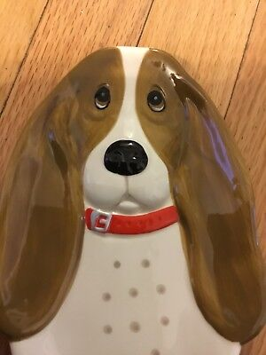 Cute Basset Hound Spoon Rest or Jewelry Holder Pioneer Woman Charlie New