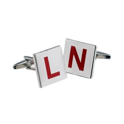 L & N Plate Learner Newly Passed Driver CUFFLINKS Driving Instructor GIFT BOX