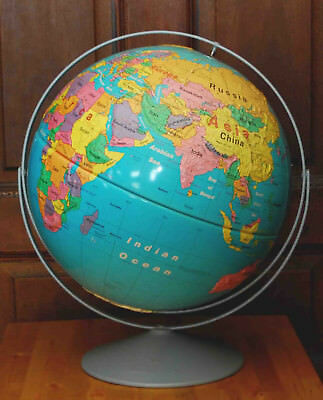 """Vintage 16"""" Nystrom Readiness Globe Raised Topography 1991 50"""" Circumference"""