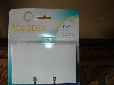 """NEW SEALED ROLODEX 100 Count Plain White Refill Blank File Cards Address 3""""x5"""""""